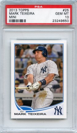 2013 Topps Mini Mark Teixeira