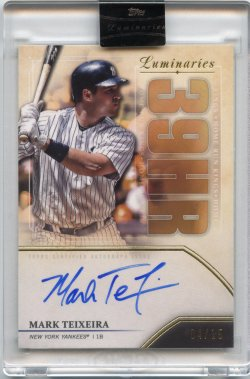2020 Topps Luminaries Mark Teixeira Home Run King