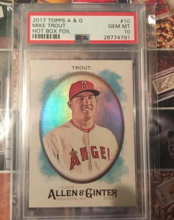 2017 Topps Allen & Ginter Hot Box Foil Mike Trout