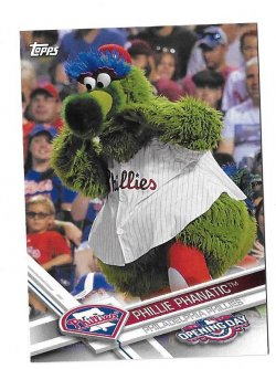 2017 Topps Opening Day Phillie Phanatic Mascot