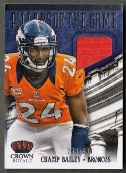 2013  Crown Royale Pillars Of The Game Materials Champ Bailey