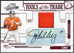 2005   John Elway Absolute Tools of the Trade JSY Auto /100