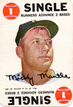 1968 Topps Game Mickey Mantle