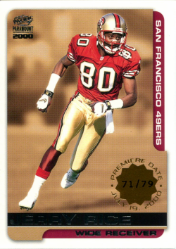 2000 Playoff Paramount Premier Date Jerry Rice
