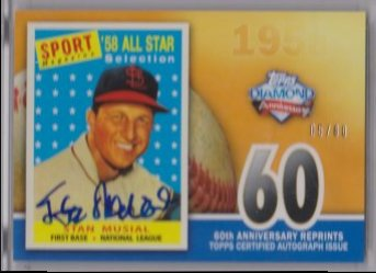 2011 Topps 2011 Topps 60th Anniversary Reprint Autographs  stan musial