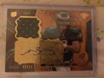2013 Topps Triple Threads Matt Barkley Rookie Auto Relics