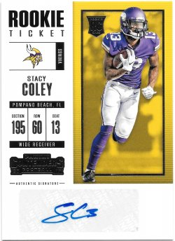 2017 Panini Contenders Rookie Ticket Autographs Stacy Coley