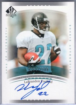 2003 Upper Deck SP Authentic LaBrandon Toefield