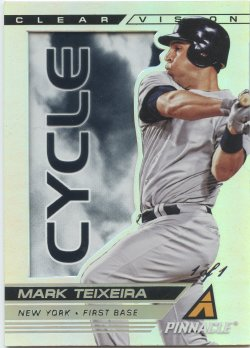 2005 Panini Pinnacle Mark Teixeira Clear Vision Cycle