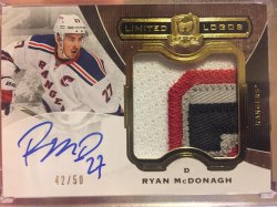 2014 Upper Deck The Cup Ryan McDonagh Limited Logos
