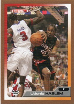 2005-06 Topps Total Haslem, Udonis - Gold