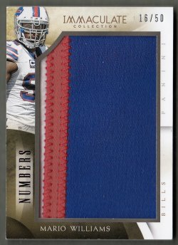 2014  Immaculate Collection Numbers Jumbo Patches Mario Williams