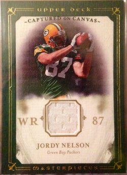 2008 Upper Deck Masterpieces  Captured on Canvas Jersey Jordy Nelson RC
