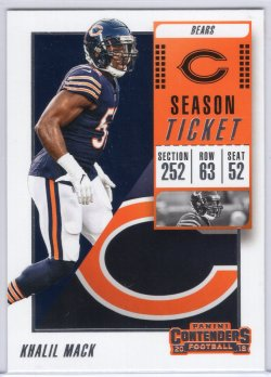 2018 Playoff Contenders Khalil Mack Season Ticket Base