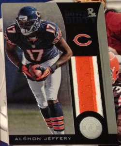 2012 Panini Totally Certified Alshon Jeffery Down & DIrty Prime Jersey