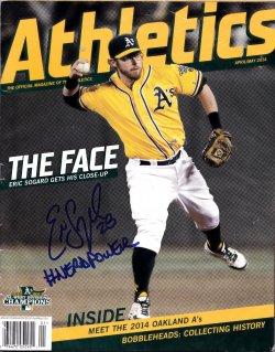 2014   Eric Sogard Athletics Magazine IP Autograph