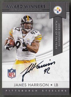 2018 Panini Award Winners Autographs James Harrison