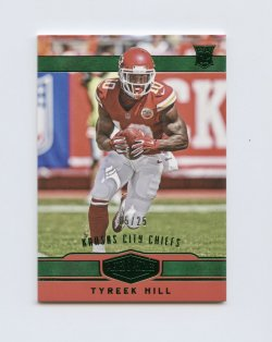 2016 Panini Plates and Patches Green #196 Tyreek Hill/25