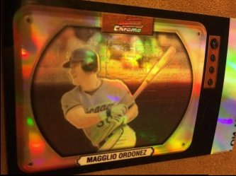2000 Bowman Television ReFractor UNCUT Proof  MAGGLIO ORDONEZ #49 WhiteSoX Tiger AllStar OF