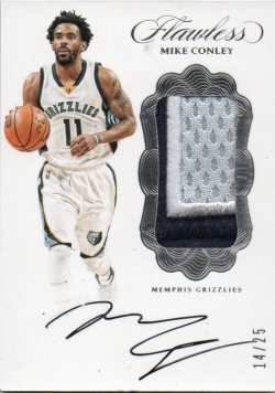 2016-17 Panini Flawless Conley, Mike - Vertical Patch Autographs