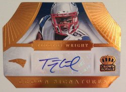 2014 Panini Crown Royale Tim Wright RC Crown Signatures