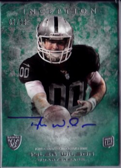 2013 Topps Inception Green Tyler Wilson RC AU