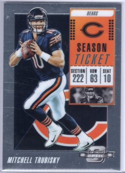 2018 Playoff Contenders Optic Mitchell Trubisky Season Ticket