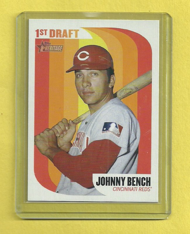 2014 Topps Heritage Johnny Bench 1st Draft Fs Blowout Cards Forums