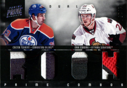 2011/12 Playoff Prime Jersey Patch Colten Teubert / Erik Condra