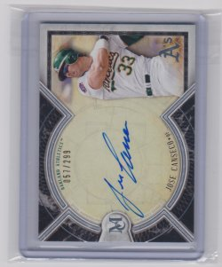 2018 Topps museum canseco archival autograph