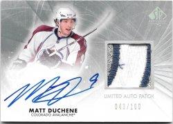 2011-12 Upper Deck SP Authentic Limited Auto Patch Matt Duchene