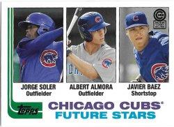 2013 Cubs Topps Archives Season Ticket Holder -Soler - Almora - Baez