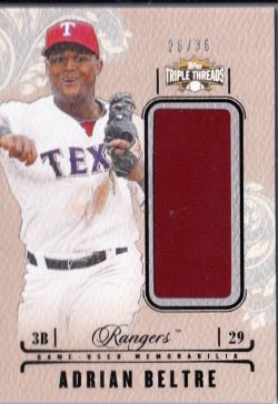 2014 Topps Triple Threads Game Used Jersey Relic Adrian Beltre
