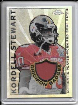 2002 Topps Chrome Gridiron Badges Jersey - Kordell Stewart