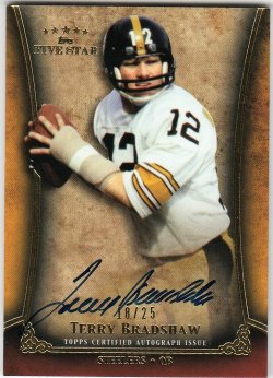 2011   Terry Bradshaw Topps Five Star Gold Parallel /25