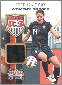 2012 Panini American US Womens Soccer Team Materials Stephanie Cox