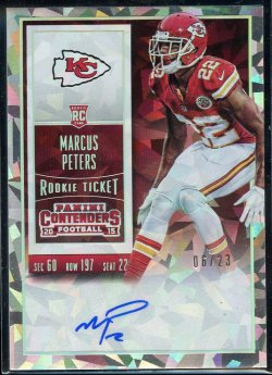 2015 Panini Contenders Cracked Ice Ticket Auto Marcus Peters