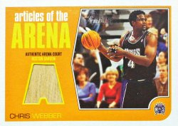 2001-02 Topps Heritage Articles of the Arena Relics Chris Webber