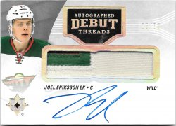 2016-17 Upper Deck Ultimate Collection Autographed Debut Threads Joel Eriksson Ek