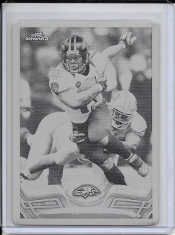 2013 Topps Chrome Black Printing Plate - Ray Rice