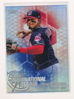 Francisco Lindor 2018 Topps Chrome Update An International Affair