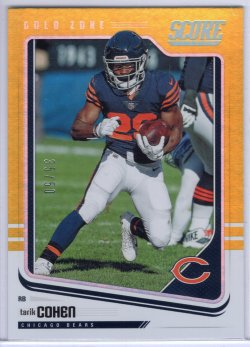 2018 Score Score Tarik Cohen Base Gold Zone