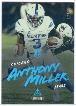 2018 Panini Luminance Anthony Miller Platinum Blue