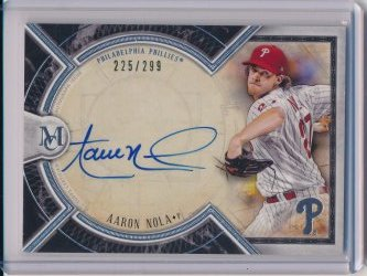 Aaron Nola 2018 Topps Museum Collection Archival Autographs /299