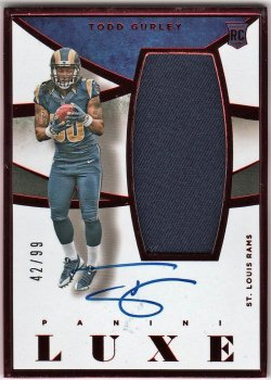 2015   Todd Gurley Luxe Ruby Parallel JSY Auto /99
