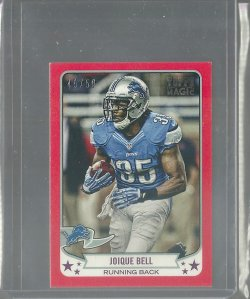 2013 Topps Magic Joique Bell - Red Border Mini