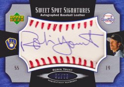 2005  Sweet Spot Signatures Red Stitch Blue Ink Robin Yount