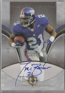 2006 Upper Deck Ultimate Collection Tiki Barber All-Pro Signatures