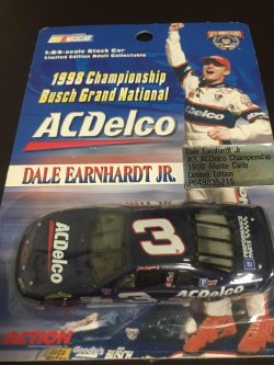 1998  ACTION BUSCH Grand National Champion  DALE EARNHARDT JR  #3  ACDelco 1/64 Chevy Monte Carlo