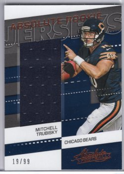 2017 Panini Absolute Mitchell Trubisky Absolute Rookie Jerseys